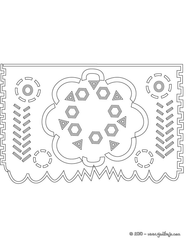 Papel Picado Template For Kids – images free download